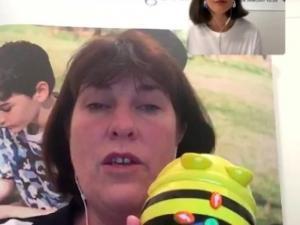 Meredith presenting virtually
