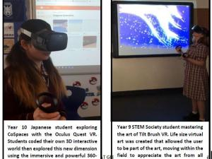 students using Oculus Quest