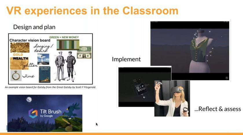 screen shot of VR experiences in classroom