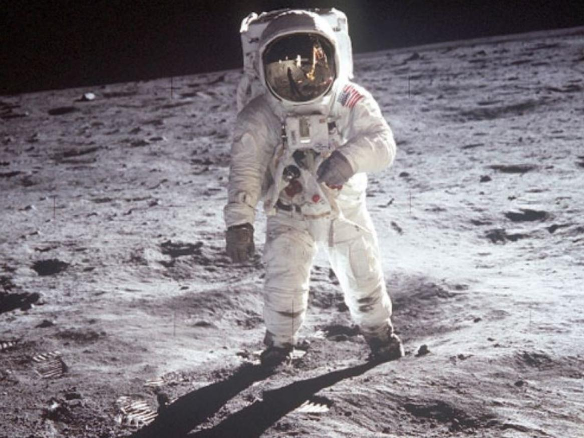Astronaut on the Moon. photo credit: NASA