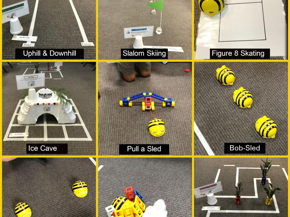 Beebot activities collage