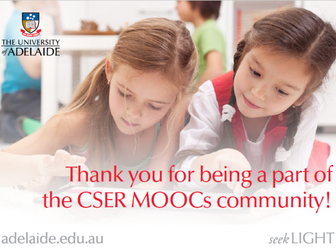 Thank you for being a part of the CSER community